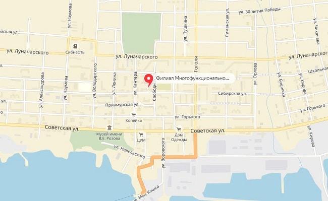 МФЦ в Николаевске-на-Амуре на карте